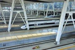 Estação de comboio de Beijing, ââRail de alta velocidade foto de stock royalty free