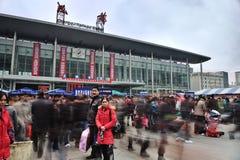 Estação de comboio de Chengdu foto de stock