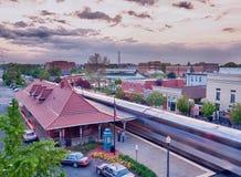 Estação de comboio de Manassas em Virgínia EUA fotos de stock