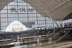 Estação de comboio de Wuhan fotografia de stock royalty free