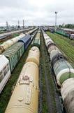 Estação de comboio do frete imagens de stock