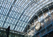 Estação de comboio do St. Pancras. fotos de stock