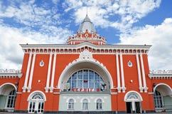 Estação de comboio em Chernigov fotografia de stock royalty free