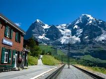Estação de comboio em Eiger fotografia de stock royalty free