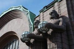 Estação de comboio em Helsínquia imagem de stock