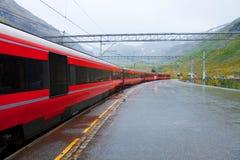 Estação de comboio em Noruega imagem de stock royalty free