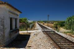 Estação de comboio em Portugal fotografia de stock