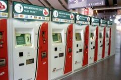 Estação de comboio em Roma, Italia imagens de stock
