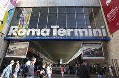 Estação de comboio em Roma, Italy imagens de stock