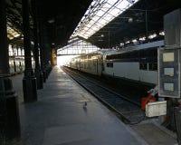 Estação de comboio inativa vazia Fotografia de Stock Royalty Free