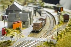 Estação de comboio modelo imagem de stock