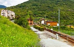 Estação de comboio nos alpes fotos de stock royalty free