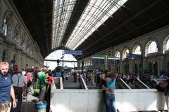 Estação de comboio ocidental de Budapest - interna fotos de stock royalty free