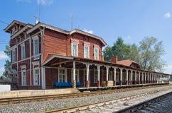 Estação de comboio provincial imagem de stock royalty free