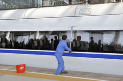 Estação de comboio sul de Guangzhou fotografia de stock