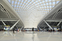 Estação de comboio sul de Guangzhou imagem de stock