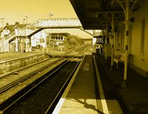 Estação de comboio tradicional fotos de stock