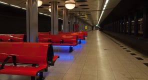 Estação de comboio vazia Schiphol Fotos de Stock Royalty Free