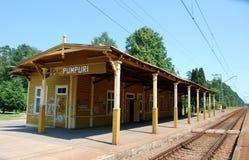 Estação de comboio velha imagem de stock royalty free