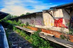 Estação de comboio velha imagem de stock