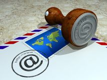 Estação de correios do Internet Foto de Stock Royalty Free