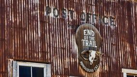Estação de correios nos escavadores de ouro da cidade fantasma imagem de stock royalty free