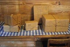 Estação de correios velha Fotografia de Stock Royalty Free