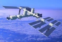 Estação de espaço ilustração royalty free