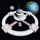 A estação de espaço nova 2500 ilustração do vetor