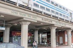 Estação de estrada de ferro de Babylon Long Island Imagens de Stock