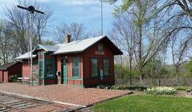 Estação de estrada de ferro velha da cidade Imagens de Stock
