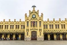 Estação de estradas de ferro norte em Valência, Espanha foto de stock