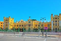 Estação de estradas de ferro norte Estacio del Nord em Valência Capital o Imagem de Stock Royalty Free