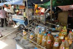 Estação de gasolina em Camboja Foto de Stock Royalty Free