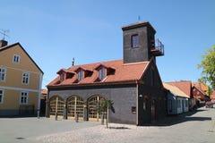 A estação de incêndio velha Imagem de Stock