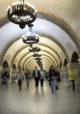 Estação de metro bonita Fotos de Stock Royalty Free