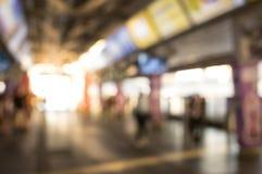 Estação de metro borrada, conceito da cidade Fotos de Stock