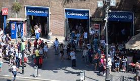 Estação de metro de Colosseo fotos de stock royalty free