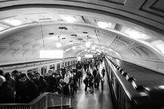 Estação de metro da biblioteca de Lenin em Moscou Fotos de Stock