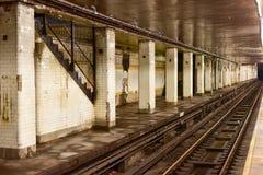 Estação de metro da rua das câmaras - New York City imagem de stock