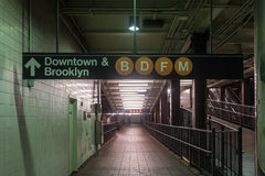 34a estação de metro da rua - New York City Imagem de Stock