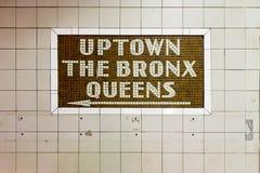 34a estação de metro da rua - New York City Fotos de Stock Royalty Free