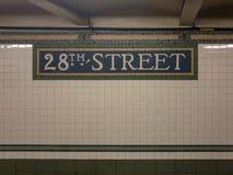 28a estação de metro da rua - NYC Imagem de Stock