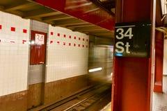 34a estação de metro da rua - NYC Fotografia de Stock Royalty Free