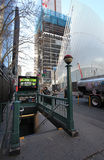 Estação de metro de New York e 9/11 de memorial EUA Imagens de Stock
