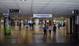 Estação de metro de Piata Universitatii (quadrado da universidade), Bucareste Fotos de Stock Royalty Free