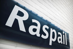 Estação de metro de Raspail imagem de stock