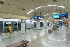 Estação de metro de Seoul em Coreia do Sul fotos de stock
