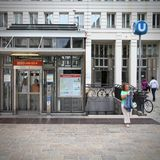 Estação de metro de Viena foto de stock