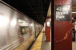 Estação de metro do parque de Bryant Foto de Stock